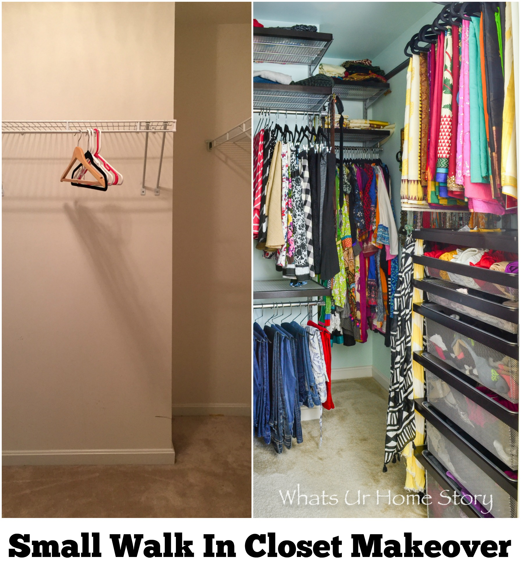 Small Walk In Closet small walk in closet makeover | whats ur home story