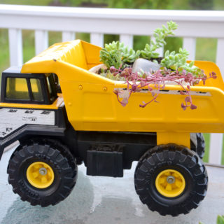 succulent toy truck planter a fun projects for the mamas and kids to do in the garden