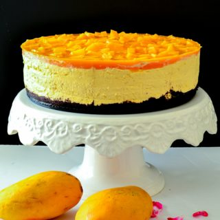 a guaranteed crowd pleaser this no bake mango cheesecake is a must make if you are a fan of easy to make or make ahead dessert