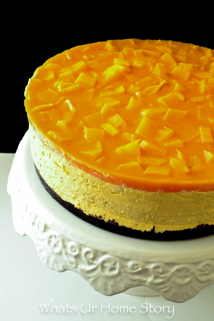 Mango Cheesecake   No Bake Recipe