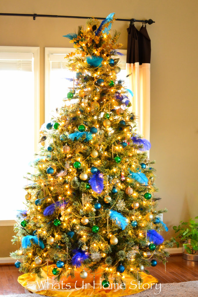 Our 2016 Peacock Themed Christmas Tree Whats Ur Home Story