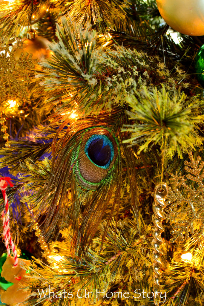 Our 2016 Peacock Themed Christmas Tree