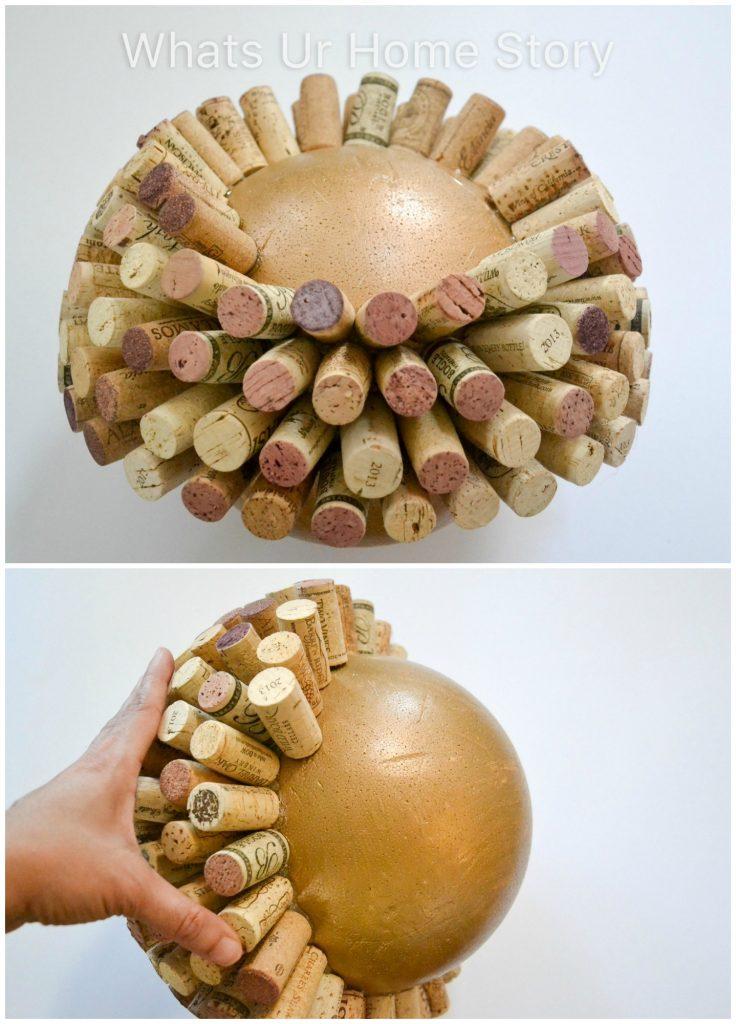 Large Wine Cork Ball DIY
