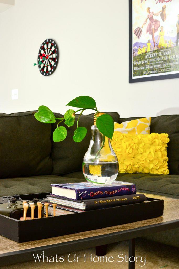 Loft Style Basement Family Room Makeover