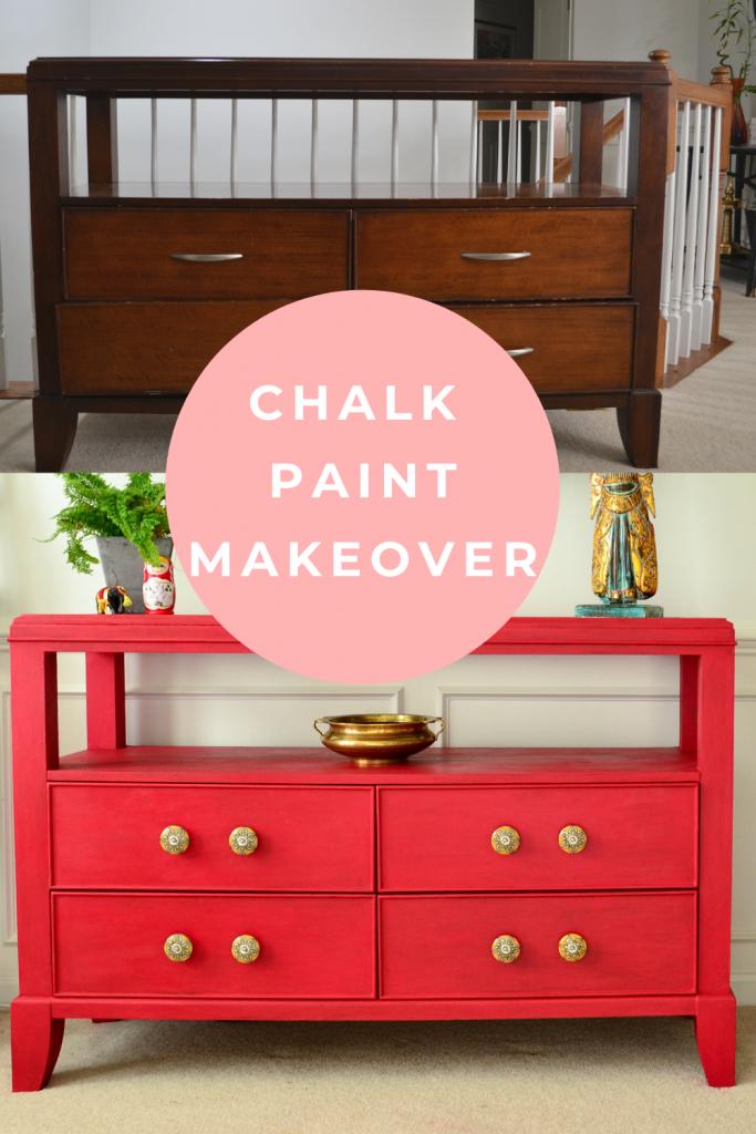 Annie Sloan Chalk Paint Dresser Makeover
