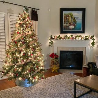 Rustic glam christmas tree -rustic glam Christmas decor
